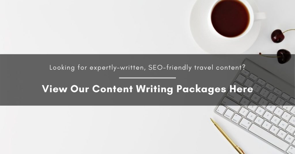 Call to action which reads: Looking for expertly-written, SEO-friendly content? View our content writing packages here.