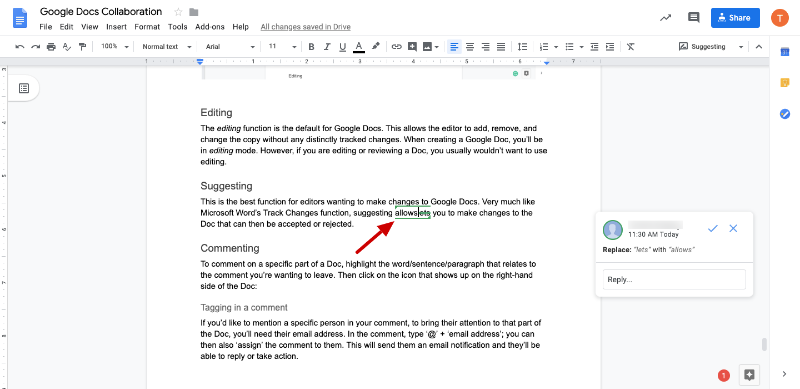 how to edit a google doc that was shared with me