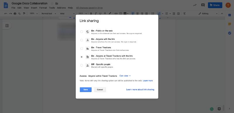 google docs access