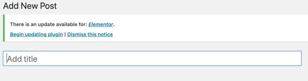 Add title in wordpress