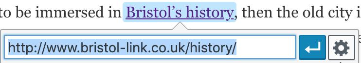 Cretaing a nofollow link on wordpress